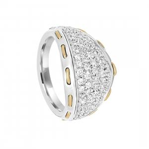 DAMIANI Anello damiani in oro bianco e oro giallo con diamanti ct 0