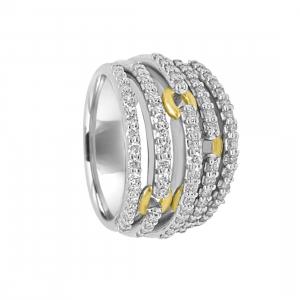 DAMIANI Anello damiani in oro bianco e oro giallo con diamanti ct 1