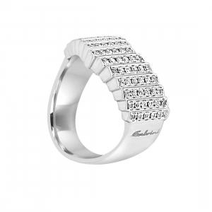 SALVINI Anello in oro bianco con diamanti mis 14