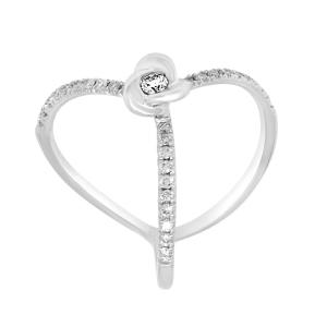 SALVINI Anello in oro bianco con diamanti ct 0.31