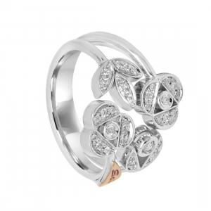 SALVINI Anello in oro bianco con diamanti mis 15
