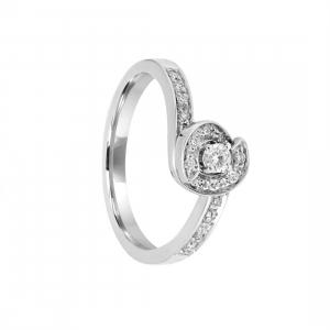 SALVINI Anello in oro bianco con diamanti ct 0.20
