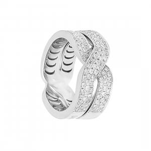 DAMIANI Anello damiani abbracci in oro bianco con diamanti ct 0
