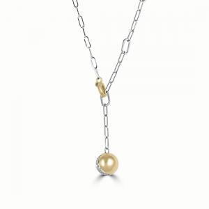 ALFIERI & ST.JOHN Acquista il collier globe in oro bianco con diamanti ct 0